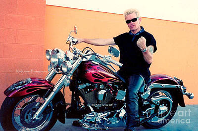 Billy Idol Wall Art - Photograph - Musician - Billy Idol - Live Strong Live Free by Kip Krause