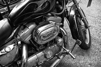 Photograph - Live To Ride Ride To Live Mono by John Rizzuto