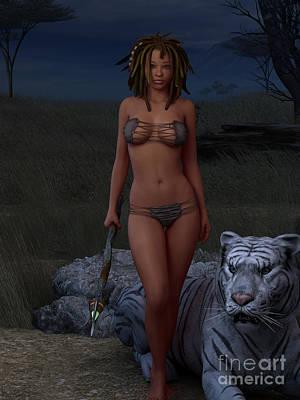 Warrior Women Digital Art - Live Wild And Free by Alexander Butler