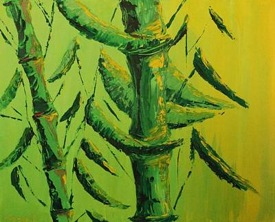 Painting - Lively Lime Bamboo by Timothy Michaels Flores