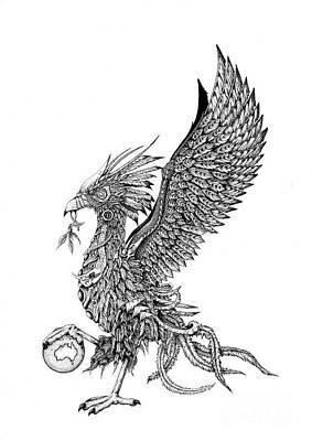 Phoenix Bird Drawing - Liver Bird by Emma Spears