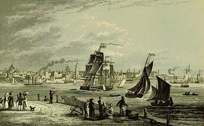 Liverpool, 19th Century Engraving 1837 Art Print