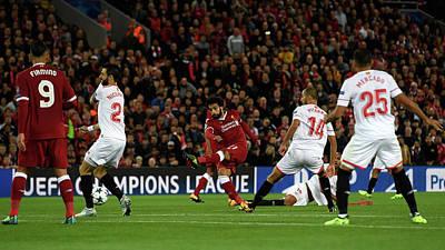 Scoring Photograph - Liverpool Fc V Sevilla Fc - Uefa by Stu Forster