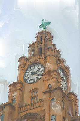 Photograph - Liverpool Liverbuilding by Christopher Rowlands