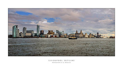 Digital Art - Liverpool Skyline by Alan Sherlock