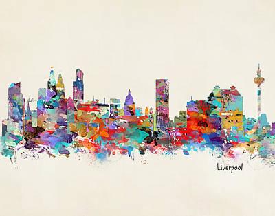 Liverpool Skyline Print by Bri B