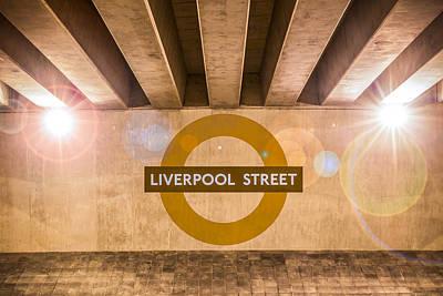 Photograph - Liverpool Street Underground by Semmick Photo