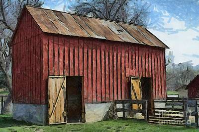 Photograph - Livestock Barn by Liane Wright