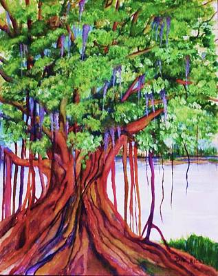 Painting - Living Banyan Tree by Jane Ricker