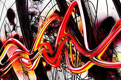 Strawberries Digital Art - Living Color by Larry Williamson