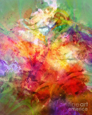 Rainbow Fantasy Art Painting - Living Color by Lutz Baar