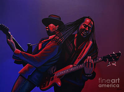 Grammy Award Painting - Living Colour Painting by Paul Meijering