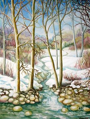 Painting - Living Creek by Inese Poga