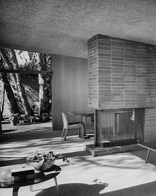 Architecture Photograph - Living-dining Room By Carl Louis Maston by Julius Shulman