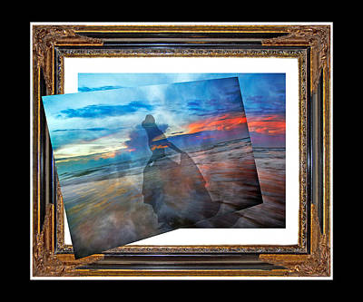 Waves Digital Art - Living Frame by Betsy Knapp