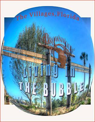 Living In The Bubble Brownwood Art Print by Wynn Davis-Shanks