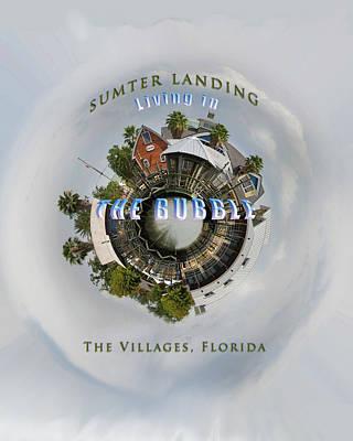 Living In The Bubble Sumter Landing Art Print by Wynn Davis-Shanks