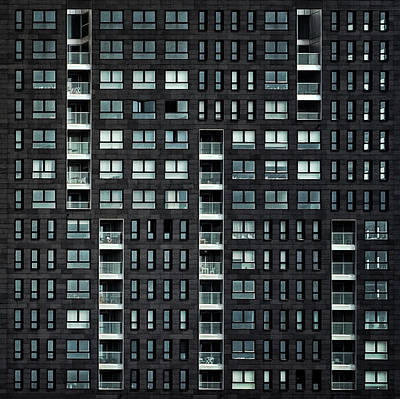 Balconies Photograph - Living In The City by Piet Flour