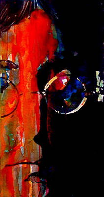 John Lennon Wall Art - Painting - Living Is Easy With Eyes Closed by Paul Lovering