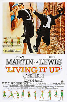 Dean Martin Poster Photograph - Living It Up, Us Poster Art, From Left by Everett