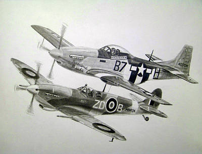 Raf Drawing - Living Legends by Nathan OQuinn