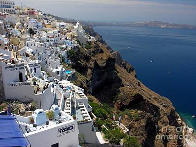 Greek Photograph - Living On The Edge by Mel Steinhauer