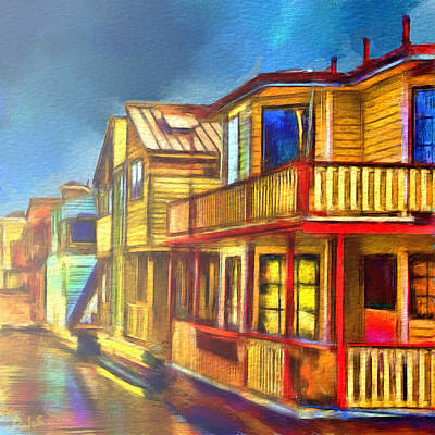 Painter Digital Art - Living On The Water by Dale Stillman