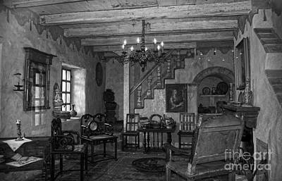 Living Room In Carmel Mission Art Print by RicardMN Photography