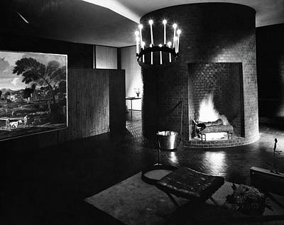 Living Room In House Designed By Philip C Art Print by Andre Kertesz
