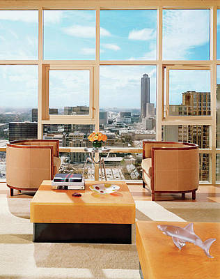Photograph - Living Room In Luxury High-rise Apartment by Mary E. Nichols