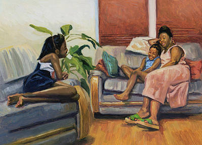 African American Artist Wall Art - Painting - Living Room Lounge by Colin Bootman
