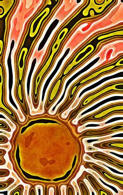 Sun Rays Digital Art - Living Sun by David G Paul