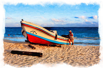 Photograph - Living The Beach Life Down In Mexico by Mark E Tisdale
