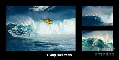 Living The Dream With Caption Print by Bob Christopher