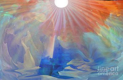 Living Under The Umbrella Of Light Art Print by Sherri's Of Palm Springs