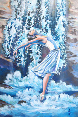 Ballet Painting - Living Water by Tamer and Cindy Elsharouni