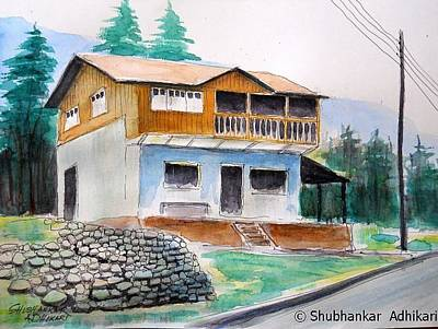 Solo Exhibition Painting - Living With Peace And Tranquility by Shubhankar Adhikari