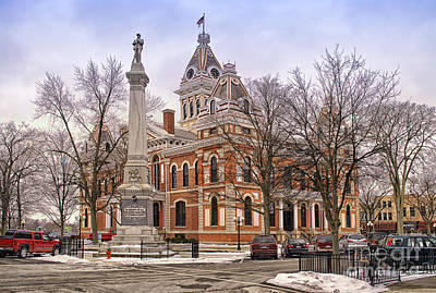 Livingston County Courthouse 06 Pontiac Il Art Print by Thomas Woolworth