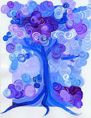 Painting - Liz Dixon's Tree Blue by First Star Art