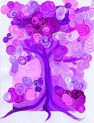 Painting - Liz Dixon's Tree Pink By Jrr by First Star Art
