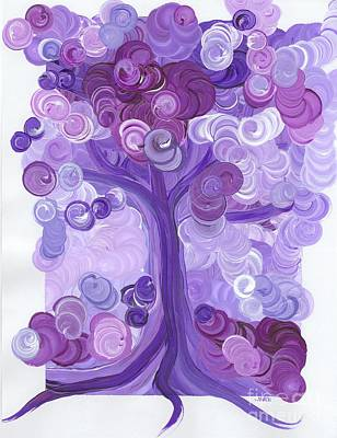 Painting - Liz Dixon's Tree Purple by First Star Art