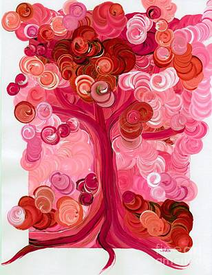 Painting - Liz Dixon's Tree Red by First Star Art