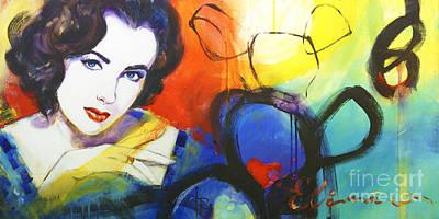Liz Taylor Painting - Liz by Ira Ivanova