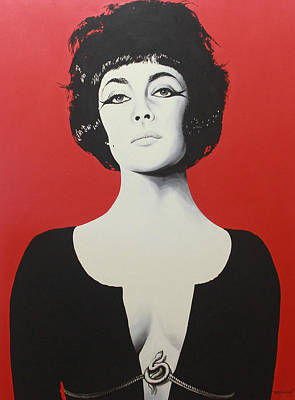 Actors Painting - Liz Taylor by Bruce McLachlan