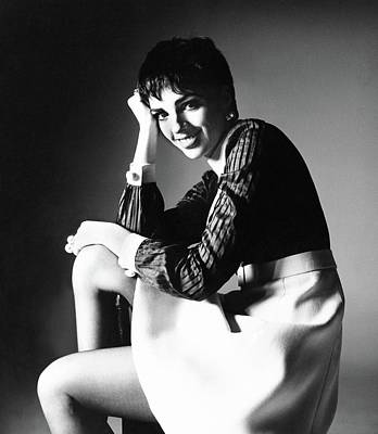 Gino Photograph - Liza Minnelli Wearing A Gino Charles Dress by Bert Stern