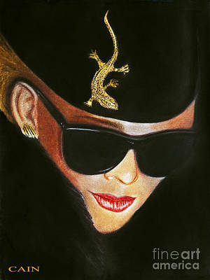 Painting - Lizard Lady In Sunglasses by William Cain