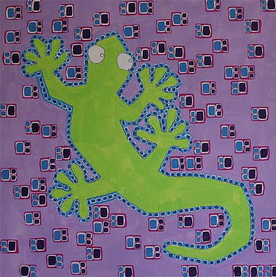 Newts Painting - Lizard Lizard by Donna Howard