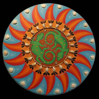 Painting - Lizard Mandala by Amanda  Lynne