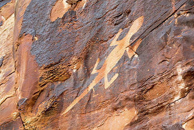 Native American Symbols Photograph - Lizard Petroglyph On Sandstone by Jim West