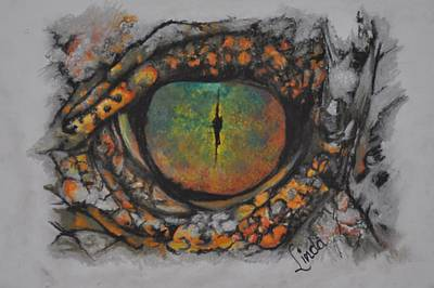 Pastel - Lizards Eye by Linda Ferreira